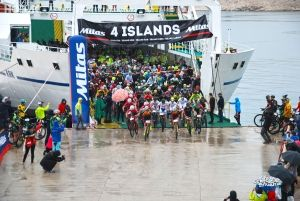Kišni start rapske etape utrke MTB Mitas 4 Islands