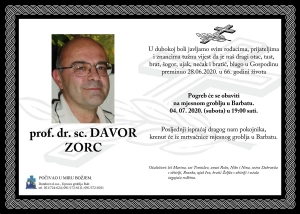 prof. dr. sc. DAVOR ZORC